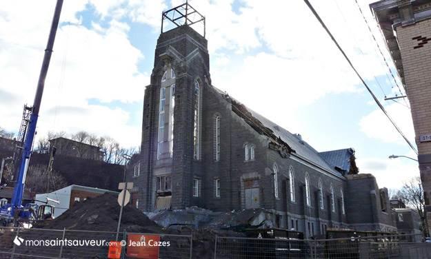 Démolition de l'église Saint-Joseph, quartier Saint-Sauveur