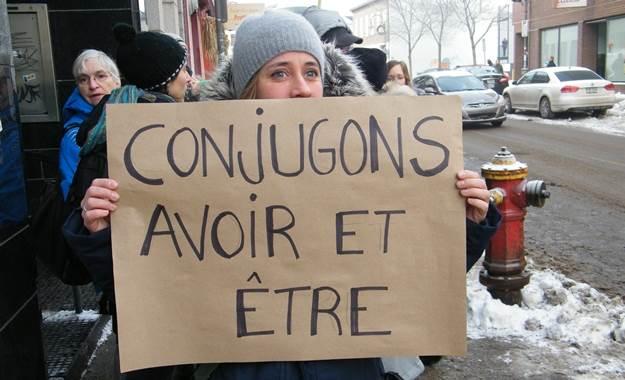 Manifestation, quartier Saint-Sauveur. 13 décembre 2012.