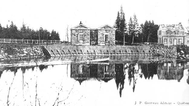 Barrage du château d'eau à Loretteville