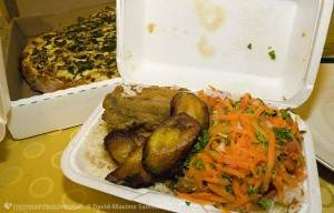 Jim et Noah - tempura, plantains, salsa