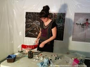 Annie Baillargeon dans son atelier
