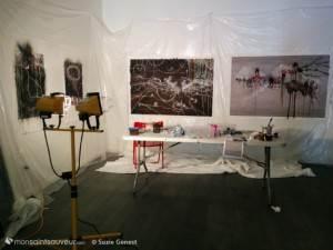 Oeuvres en cours, février 2015, atelier d'Annie Baillargeon