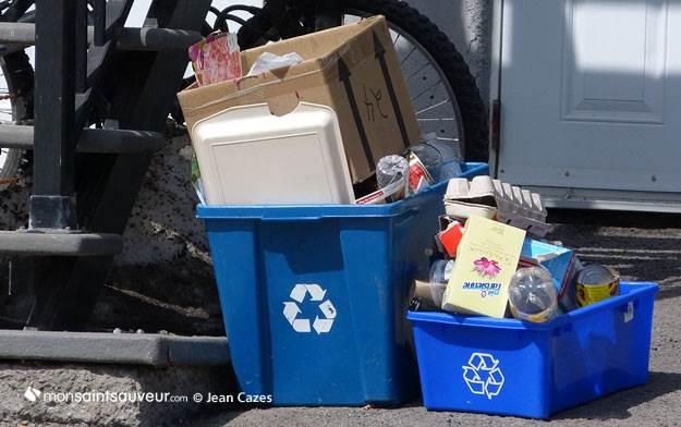 Collecte des ordures, recyclage, quartier Saint-Sauveur