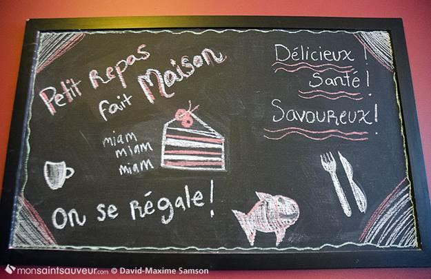 Ardoise, restaurant La Panse Douce