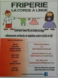flyer Friperie La Corde a Linge