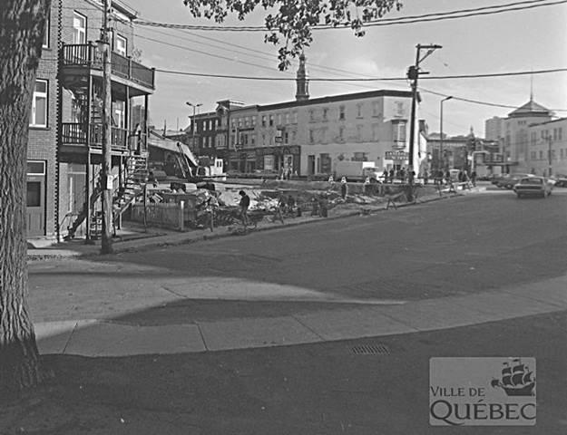 Rue Carillon. Archives de la Ville de Québec.