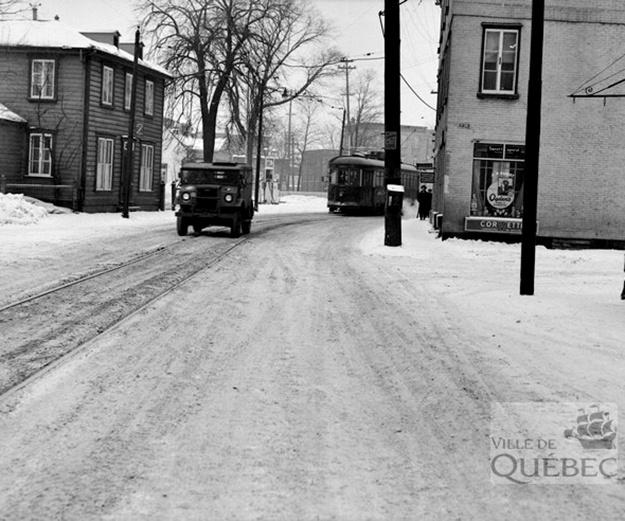 Rue Saint-Vallier. Archives de la Ville de Québec