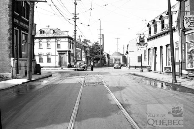 Rue Saint-Vallier. Archives de la Ville de Québec.
