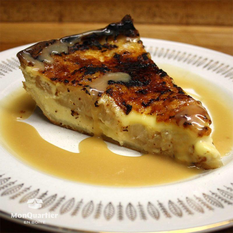 Tarte pomme et crème brûlée
