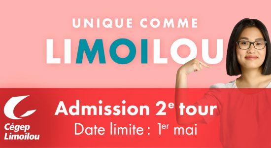 INSCRIPTIONS | 2e tour d'admission au Cégep Limoilou