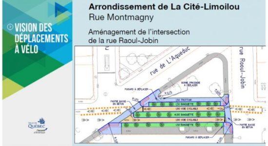 Nouveaux aménagements pour la voie cyclable de la rue Montmagny - Jean-Philippe Léveillé