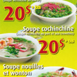 Menu soupe-repas - Jardin du Vietnam
