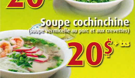 Menu soupe-repas | Jardin du Vietnam