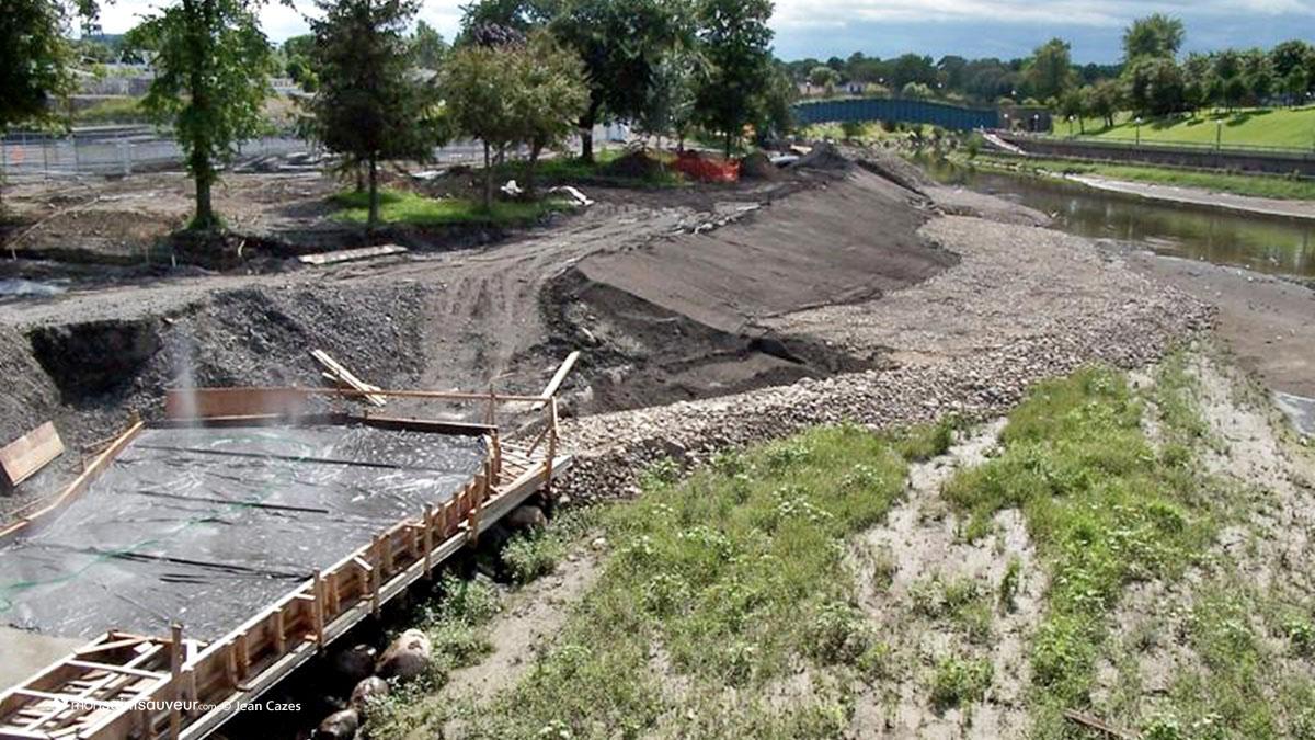 Renaturalisation des berges de la rivière Saint-Charles, phase VI.