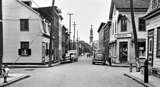 Saint-Sauveur dans les années 1950 (7) : coin Châteauguay et Victoria - Jean Cazes
