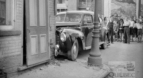Saint-Sauveur dans les années 1940 (20) : accident de taxi - Jean Cazes