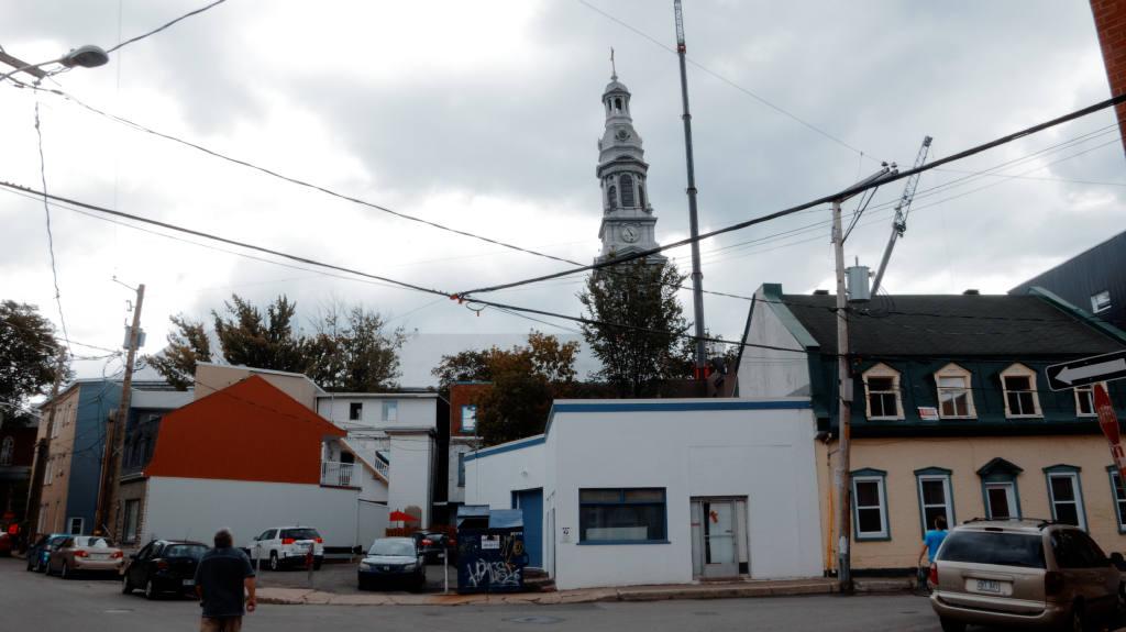 Clocher de l'église Saint-Sauveur : démontage en cours | 21 septembre 2017 | Article par Suzie Genest