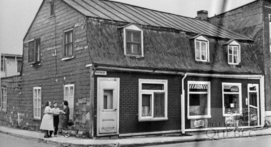 Saint-Sauveur dans les années 1950 (8) : maison et dépanneur au 220-224 Montmagny - Jean Cazes