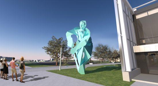 Place Jean-Béliveau: des oeuvres d'art en hommage au hockey - Viviane Asselin