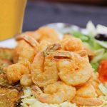 Assiette crevettes Metaxa | Déli Grec