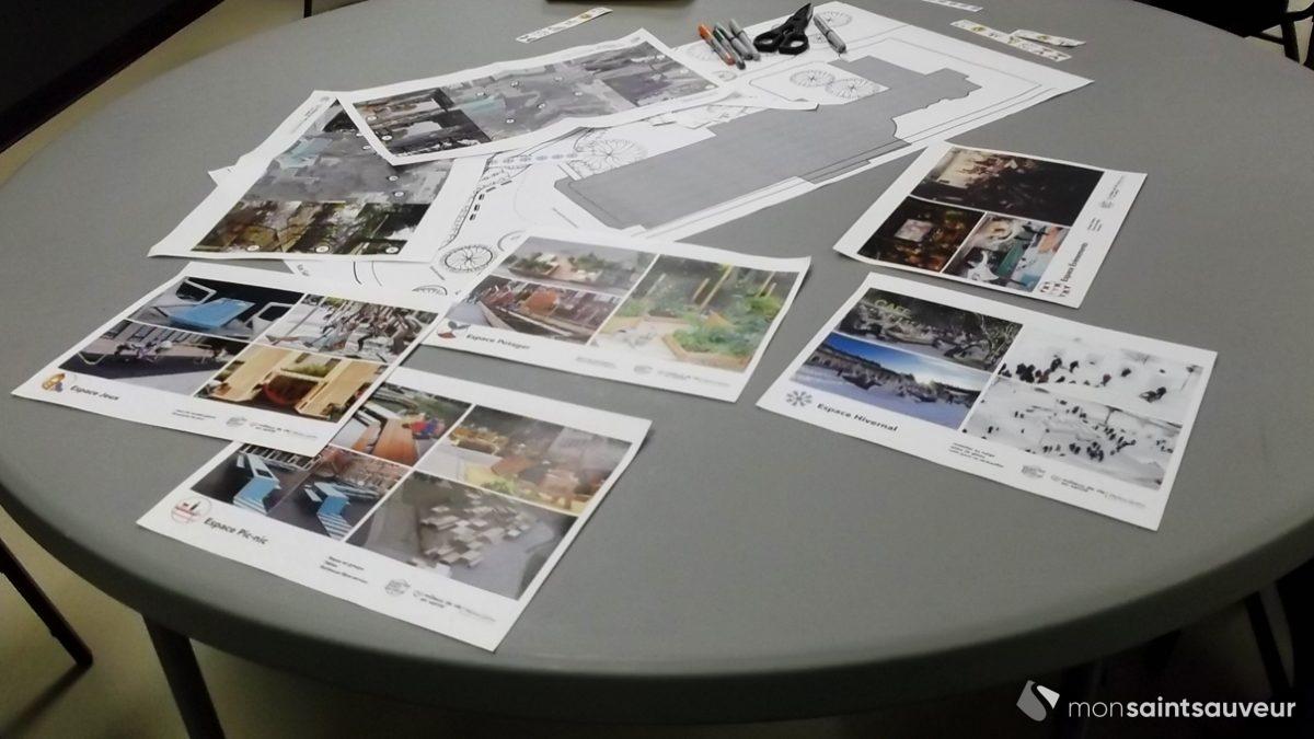 Côte Sauvageau, église Saint-Malo : citoyens aux tables à dessin | 21 février 2018 | Article par Suzie Genest