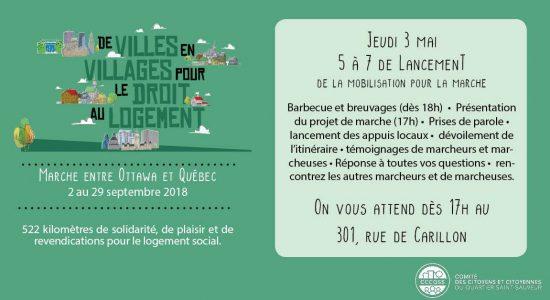 5 à 7: lancement de la mobilisation pour la Marche Ottawa-Québec