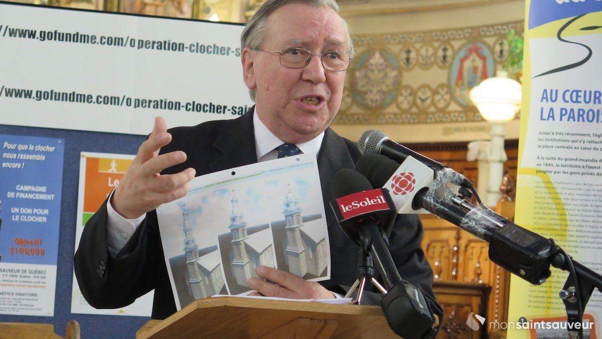 Clocher de l'église Saint-Sauveur : objectif de 100 000 $ et plus | 10 avril 2018 | Article par Véronique Demers