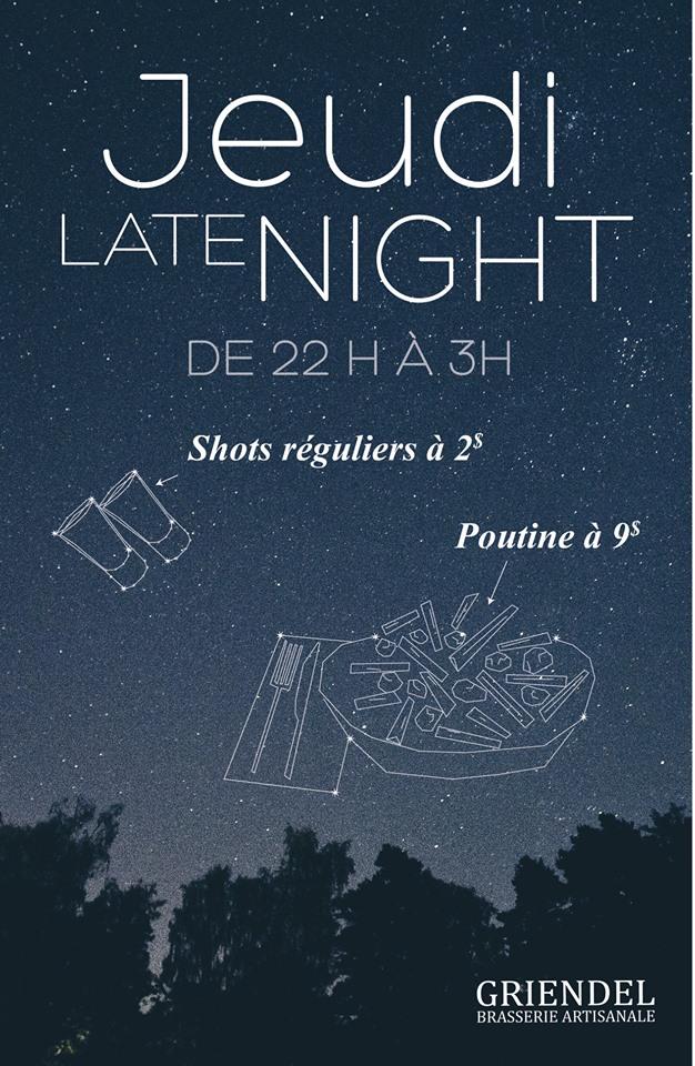 Jeudi «late night» au Griendel | Griendel – Brasserie Artisanale