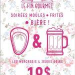 Soirée moules, frites et bière - Fin Gourmet