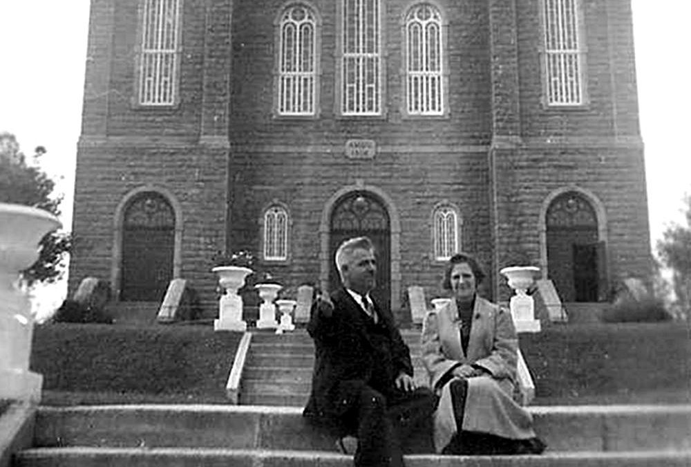 Georges Plamondon et Blanche Lachance, lors d'un voyage à Saint-Félicien, vers 1941.