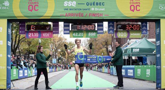 Charles Philibert-Thiboutot remporte le 10 km Oasis au Marathon SSQ - Véronique Demers