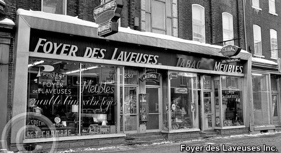Saint-Sauveur dans les années 1960(27): Foyer des laveuses&Meubles - Jean Cazes
