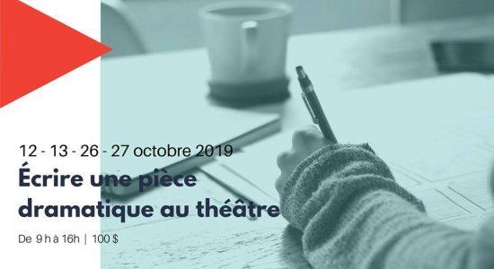 Inscription: Écrire une pièce dramatique au théâtre
