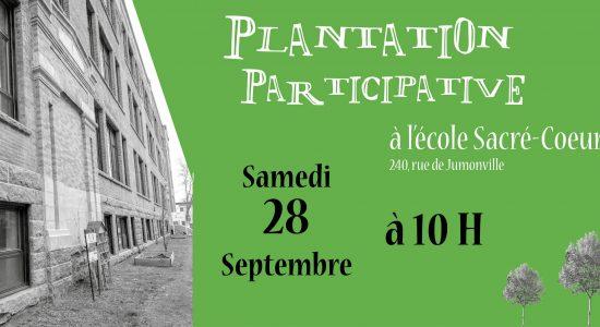 Plantation participative à l'école Sacré-Cœur
