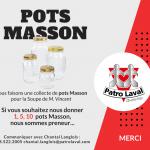 Collecte de pots Masson - Patro Laval