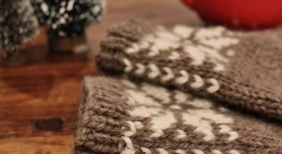 Mitaines de laine sans doigts
