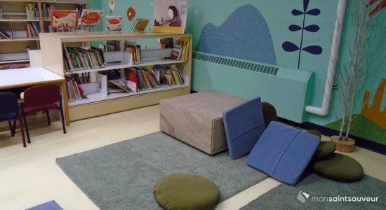 La bibliothèque de l'école Sacré-Coeur fait peau neuve - Suzie Genest
