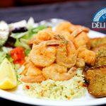 Dimanche assiette crevettes - Déli Grec