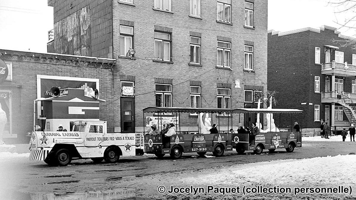 Saint-Sauveur dans les années 1960 (31) : le petit train du Carnaval parcourant la rue Sainte-Thérèse   14 février 2021   Article par Jean Cazes