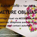 Fermeture avril et service en ligne - Coeur de mailles