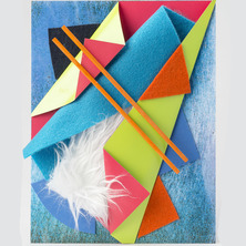 Bas-relief de papier plié | Atelier de pliage, découpage et collage
