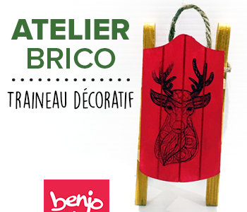 Atelier Brico • Traineau décoratif