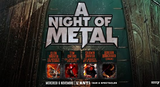 A Night Of Metal avec Tim Ripper Owens/Glen Drover/Shawn Drover