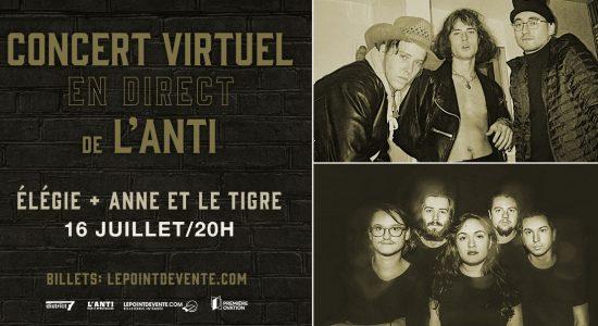 Élégie et Anne et le Tigre – Concert virtuel en direct de L'Anti