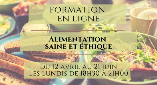 Formation en ligne: Alimentation saine et éthique