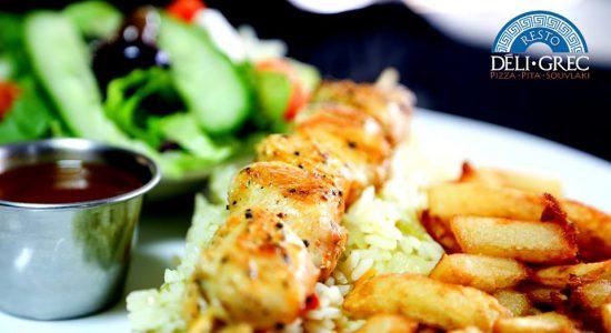 Mardi assiette souvlaki | Déli Grec