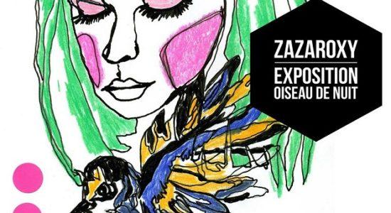 Zazaroxy et les couleurs joyeuses chez Ma Station Café - Myriam Nickner-Hudon