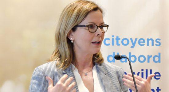 Anne Guérette en faveur du tramway et d'un 3e lien - Céline Fabriès