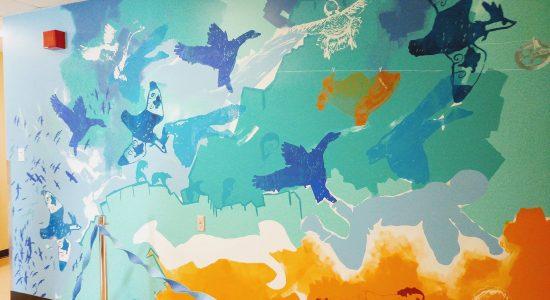 L'art prend son envol : la murale <em>Migrations</em> se dévoile - Myriam Nickner-Hudon