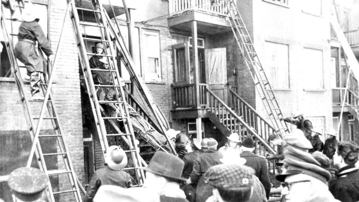 Saint-Sauveur dans les années 1950 (9) : funeste incendie sur Marie-de-l'Incarnation | 25 mars 2018 | Article par Jean Cazes